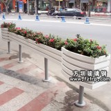 HP050玻璃钢悬挂式花盆定做 街道绿化花盆