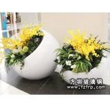 HP043玻璃钢欧式花盆生产 室内装饰特大花盆定做