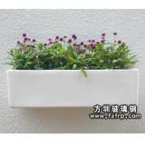 HP042玻璃钢室外悬挂式花盆 方形悬挂花盆