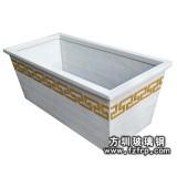 HP029白色景观花槽—玻璃钢复古花槽生产厂家