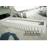 HP027白色玻璃钢花槽—道路中间隔离带花槽