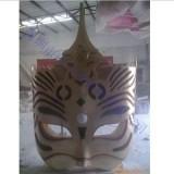 ZX-017玻璃钢面具造型 大型浮雕面具装饰