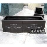 HP018 玻璃钢长方形花盆出售 大批采购盆景花盆价格可便宜 方形花槽批发