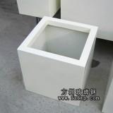 HP188白色玻璃钢室内花盆_方形室内树脂花盆生产厂家