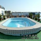 YC011玻璃钢游泳池设计 家庭阳台游泳池款式