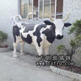 玻璃钢奶牛雕塑 动物雕塑厂家