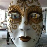 玻璃钢面具_人物脸谱雕塑