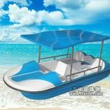 玻璃钢游船(4人位脚踏船)