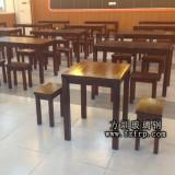 东湖中学定做方圳实木餐桌椅