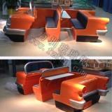 玻璃钢双排座椅卡通汽车外壳造型