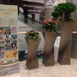 深圳房地产定做商场组合式玻璃钢花盆