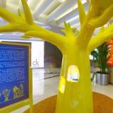 商场玻璃钢装饰树