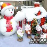 商场圣诞雪人美陈