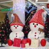 商场玻璃钢圣诞节日美陈