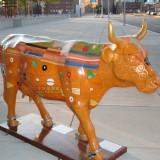 玻璃钢彩绘牛效果