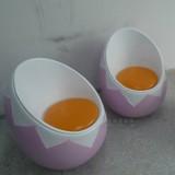 玻璃钢鸡蛋休闲椅哑光处理