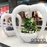 商场玻璃钢创意美陈花盆