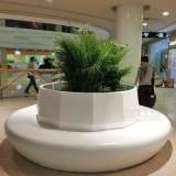 商场玻璃钢休闲椅带花盆