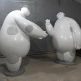 大白玻璃钢雕塑
