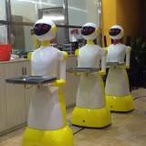 玻璃钢送餐机器人雕塑