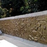 玻璃钢历史浮雕墙积淀深圳横岗城市文化底蕴
