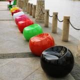 广州玻璃钢苹果凳