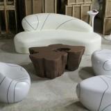 广州玻璃钢凳子茶几组合