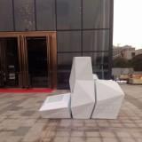 玻璃钢菱形组合花盆装饰绿化佛山地产广场空间