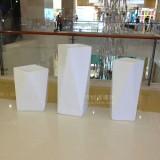 广州商场美陈定制菱形组合玻璃钢艺术花盆