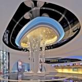 玻璃钢休闲凳造型柱装饰湖南郴州温德姆影城