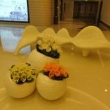 商场花盆树脂工艺品