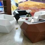 菱形沙发玻璃钢工艺品