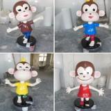 卡通猴子玻璃钢雕塑