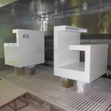成都国际金融中心定制玻璃钢保安台