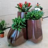 室内组合玻璃钢景观花盆美化深圳珠宝大厦