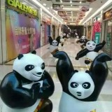 广州玻璃钢熊猫雕塑