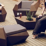 广西玻璃钢菱形组合家具
