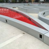 深圳花园城大型玻璃钢logo座椅创意新奇成景观