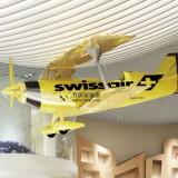 玻璃钢飞机模型雕塑浙江温州企业特色定制