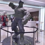 广州玻璃钢绿巨人雕塑定制