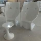 海南玻璃钢面具休闲椅定制