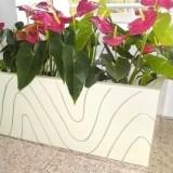 海南酒店玻璃钢景观花盆