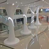 大型玻璃钢装饰立柱美陈装饰南昌新建中心