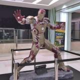 广东玻璃钢钢铁侠动漫雕塑
