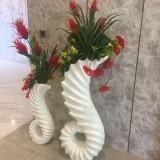 方圳玻璃钢海马落地组合花瓶商场美陈创意新选择