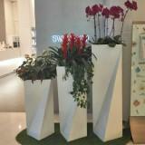 广州玻璃钢几何创意花瓶