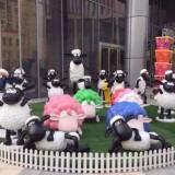 广州玻璃钢卡通羊造型雕塑