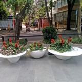 玻璃钢大型户外组合花盆绿化深圳南山楼盘环境