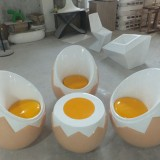 海南玻璃钢鸡蛋椅组合家具