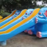 大象造型玻璃钢儿童滑梯